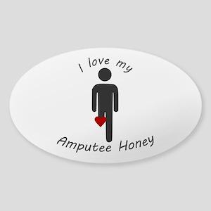 I Love my Amputee Honey Sticker (Oval)