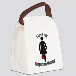 I Love my Amputee Honey Canvas Lunch Bag