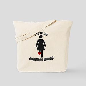I Love my Amputee Honey Tote Bag
