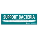 """""""Support Bacteria"""" (teal) Sticker (Bumpe"""