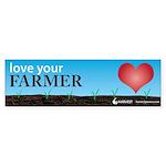 """""""Love Your Farmer"""" Sticker (Bumper 50 pk"""