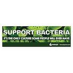 """""""Support Bacteria"""" (green) Sticker (Bump"""
