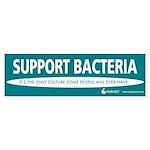 """Support Bacteria"" Sticker (Bumper 10 pk"
