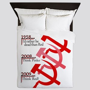 Russian Hammer And Sickle Emblem Queen Duvet