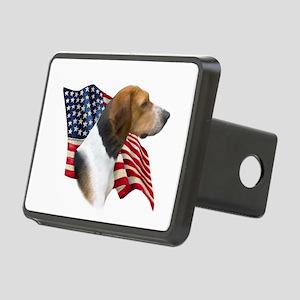 AmFoxhoundFlag Rectangular Hitch Cover
