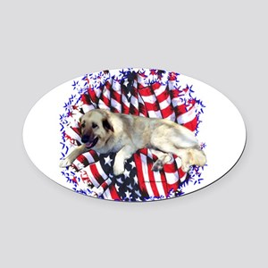 AnatolianPatriot.png Oval Car Magnet