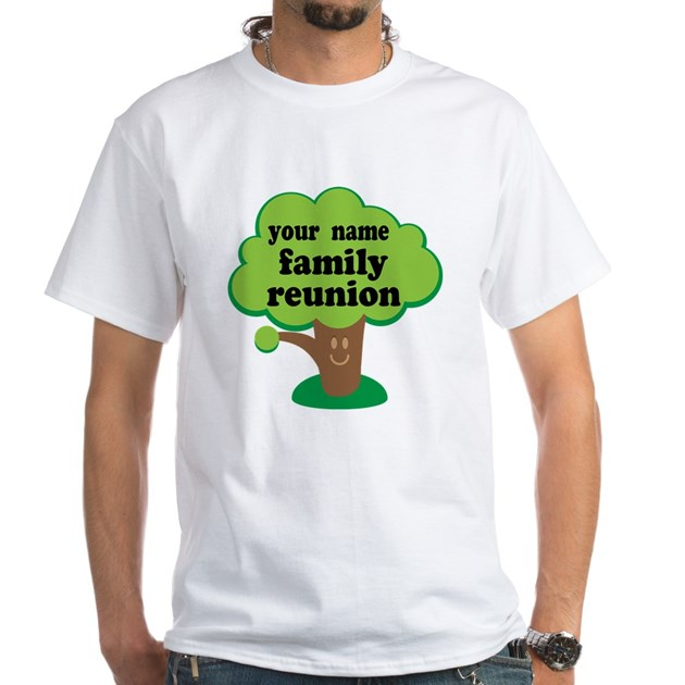 Personalized Family Reunion White T Shirt By