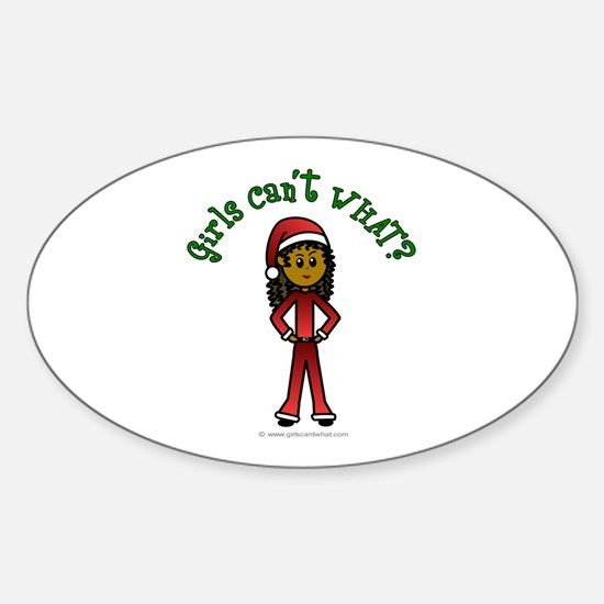 Dark Santa Oval Decal
