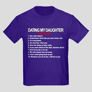 Dating My Daughter - The Rules Kids Dark T-Shirt