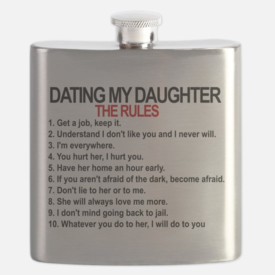 Dating My Daughter - The Rules Flask