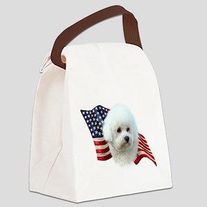 BichonFlag Canvas Lunch Bag
