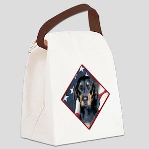 BlackandTanFlag2 Canvas Lunch Bag
