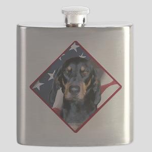 BlackandTanFlag2 Flask