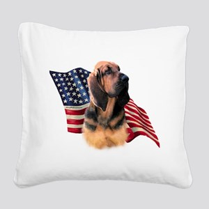 BloodhoundFlag Square Canvas Pillow
