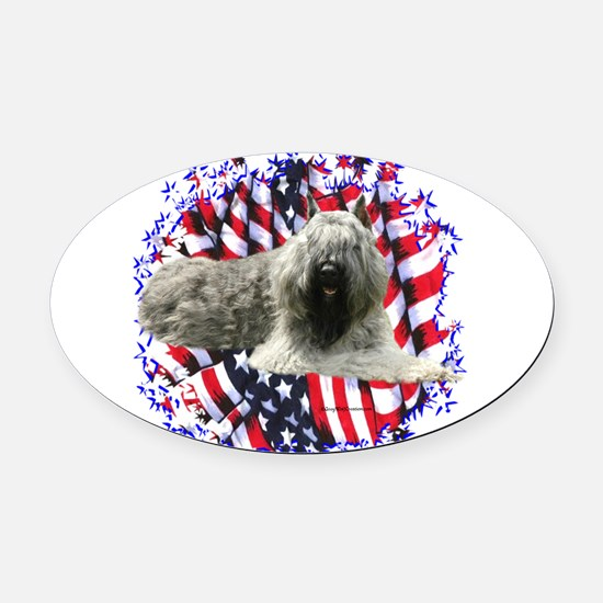 BouvierPatriot.png Oval Car Magnet
