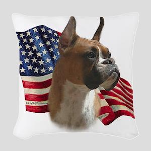 BoxerFlag Woven Throw Pillow