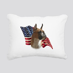 BoxerFlag Rectangular Canvas Pillow