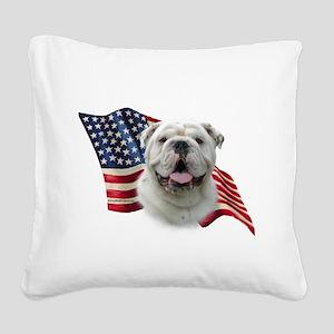 BulldogFlag Square Canvas Pillow