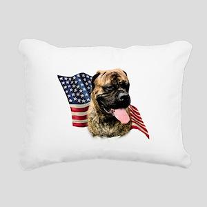 BullmastiffFlag Rectangular Canvas Pillow