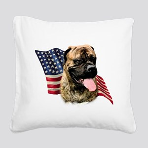BullmastiffFlag Square Canvas Pillow