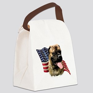 BullmastiffFlag Canvas Lunch Bag