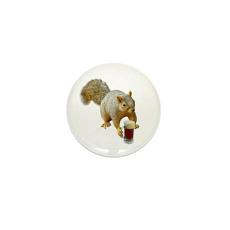 Squirrel Mug Beer Mini Button