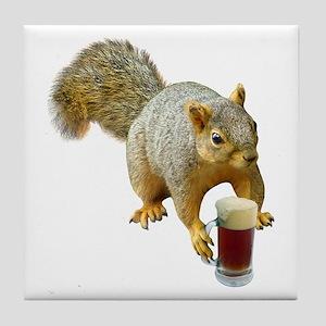 Squirrel Mug Beer Tile Coaster