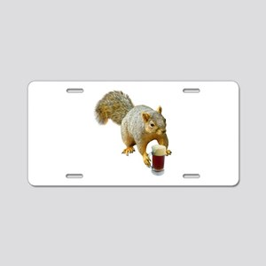 Squirrel Mug Beer Aluminum License Plate