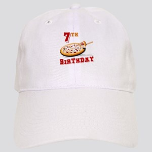 7th Birthday Pizza Party Cap