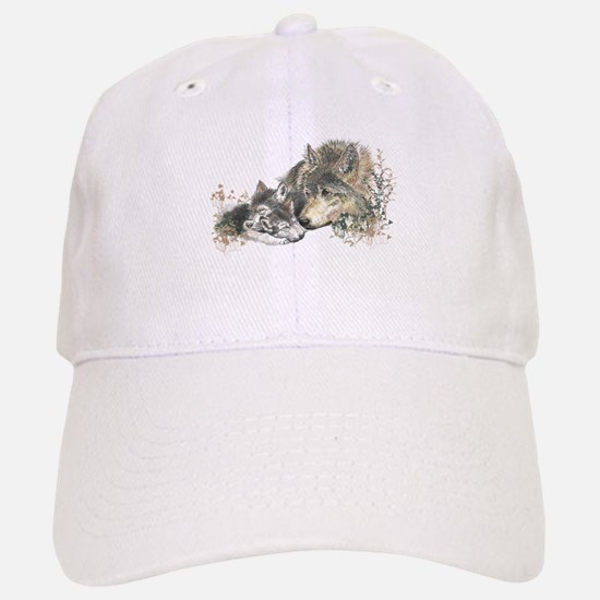 Watercolor Wolf Parent Cubs Hat
