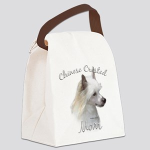 ChineseCrestedPowderMom Canvas Lunch Bag