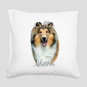 CollieroughMom Square Canvas Pillow