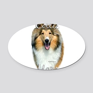 CollieroughMom Oval Car Magnet