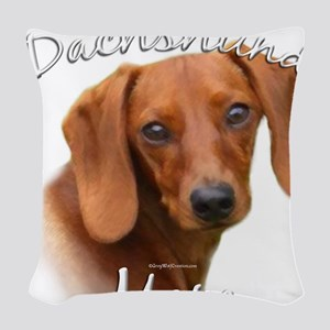 DachshundMom Woven Throw Pillow