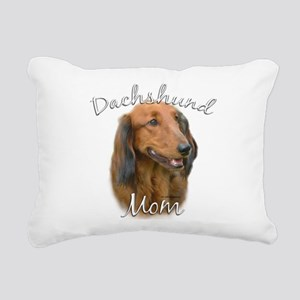 DachshundlongMom Rectangular Canvas Pillow