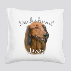 DachshundlongMom Square Canvas Pillow