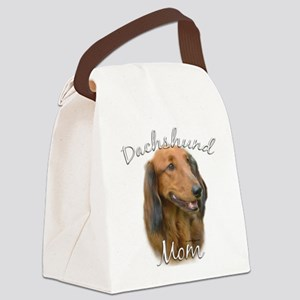 DachshundlongMom Canvas Lunch Bag