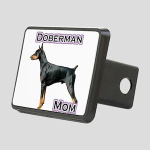 DobermanblackMom4 Rectangular Hitch Cover