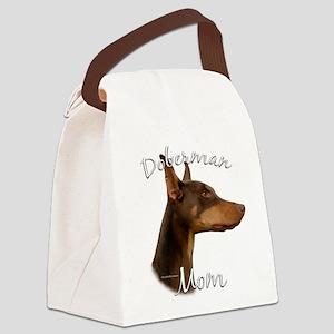 DobermanRedMom Canvas Lunch Bag
