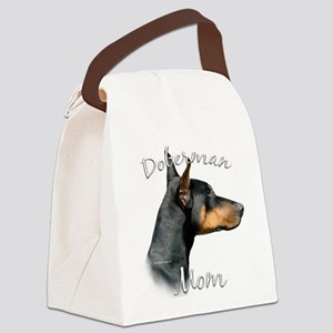 DobermanblackMom Canvas Lunch Bag