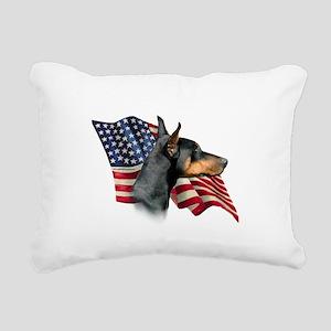 DobermanFlag Rectangular Canvas Pillow