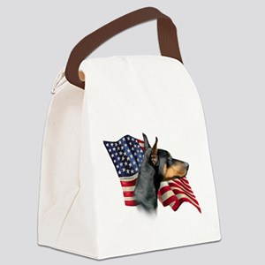 DobermanFlag Canvas Lunch Bag