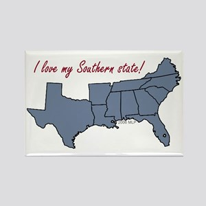 Love My Southern State Rectangle Magnet