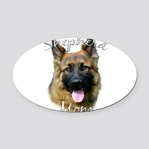 GermanSheplonghairMom Oval Car Magnet