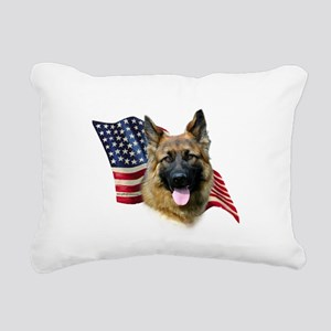 GermanShepFlag Rectangular Canvas Pillow