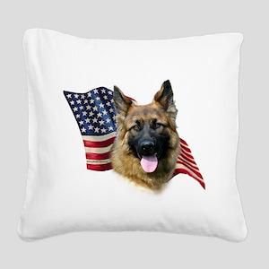 GermanShepFlag Square Canvas Pillow