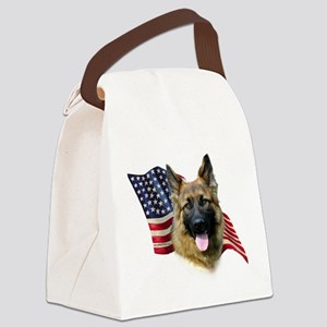 GermanShepFlag Canvas Lunch Bag