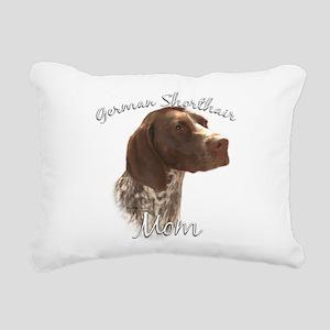 GermanShortMom Rectangular Canvas Pillow