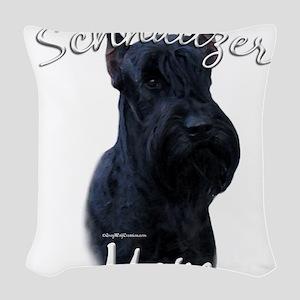 GiantSchnauzerMom Woven Throw Pillow