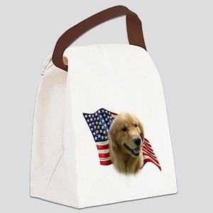 GoldenFlag Canvas Lunch Bag